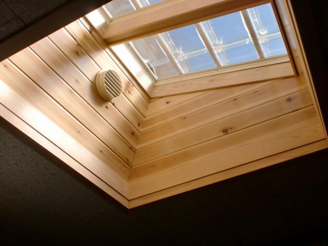 施工後 灯り取り室内天井+換気口