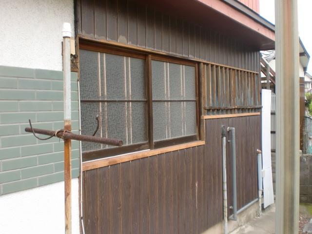施工前 中連窓 木製建具