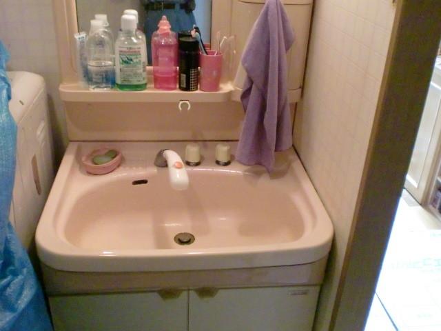 施工前 洗面化粧台