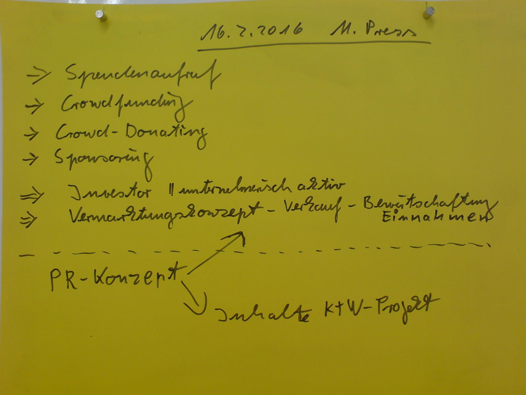 Projektarbeiten mit der entstehenden Genossenschaft FAIRKULTUR, 2016