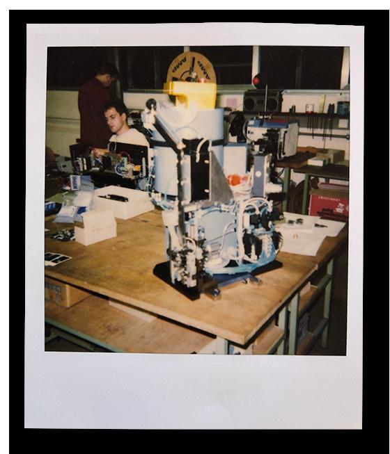 1990: Unser Montageleiter Herr Pfäffle in seinen Anfangsjahren