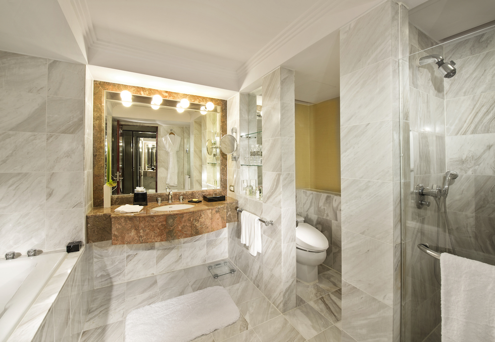 The most luxurious and beautiful bathrooms - I watched TV while in the bath!