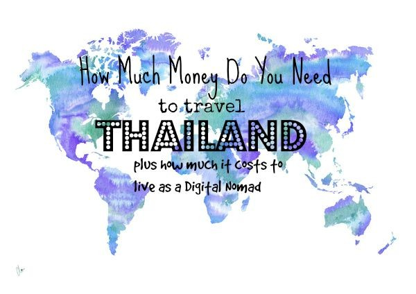 how much do you need to travel to Thailand?