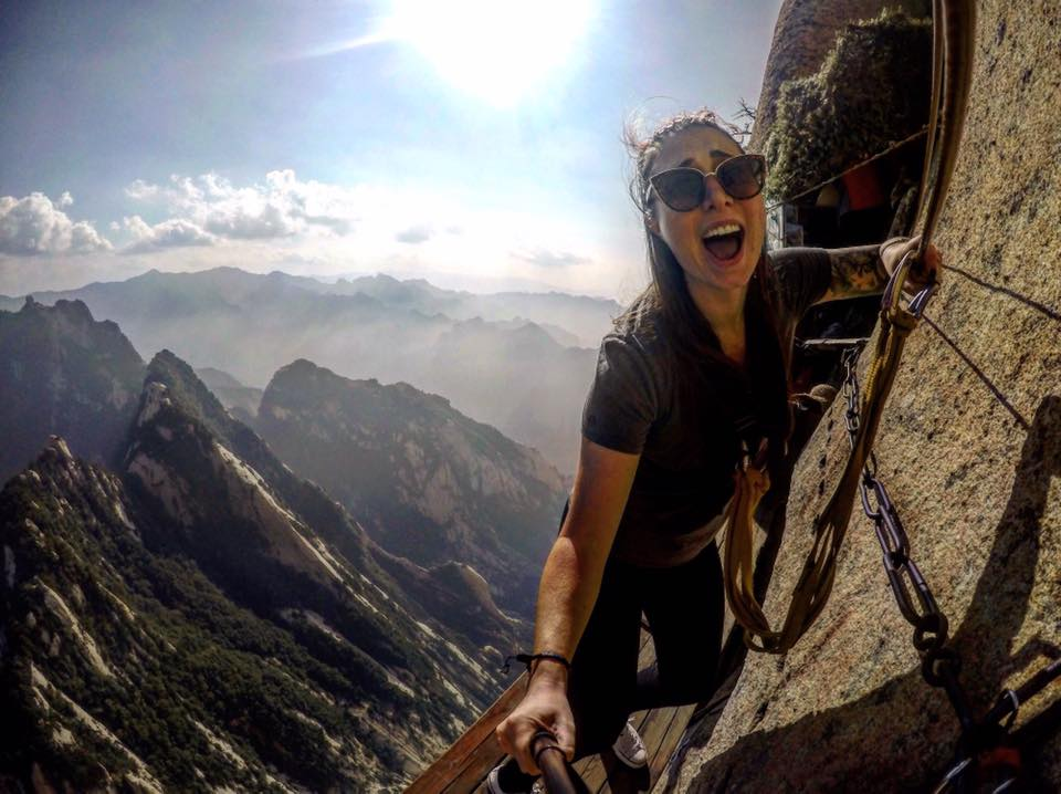 the world 39 s most dangerous hike huashan china. Black Bedroom Furniture Sets. Home Design Ideas