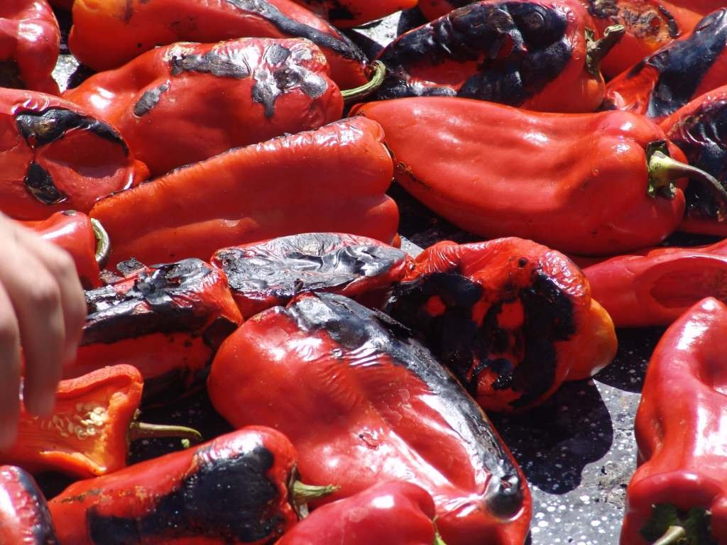 Peppers on the fire