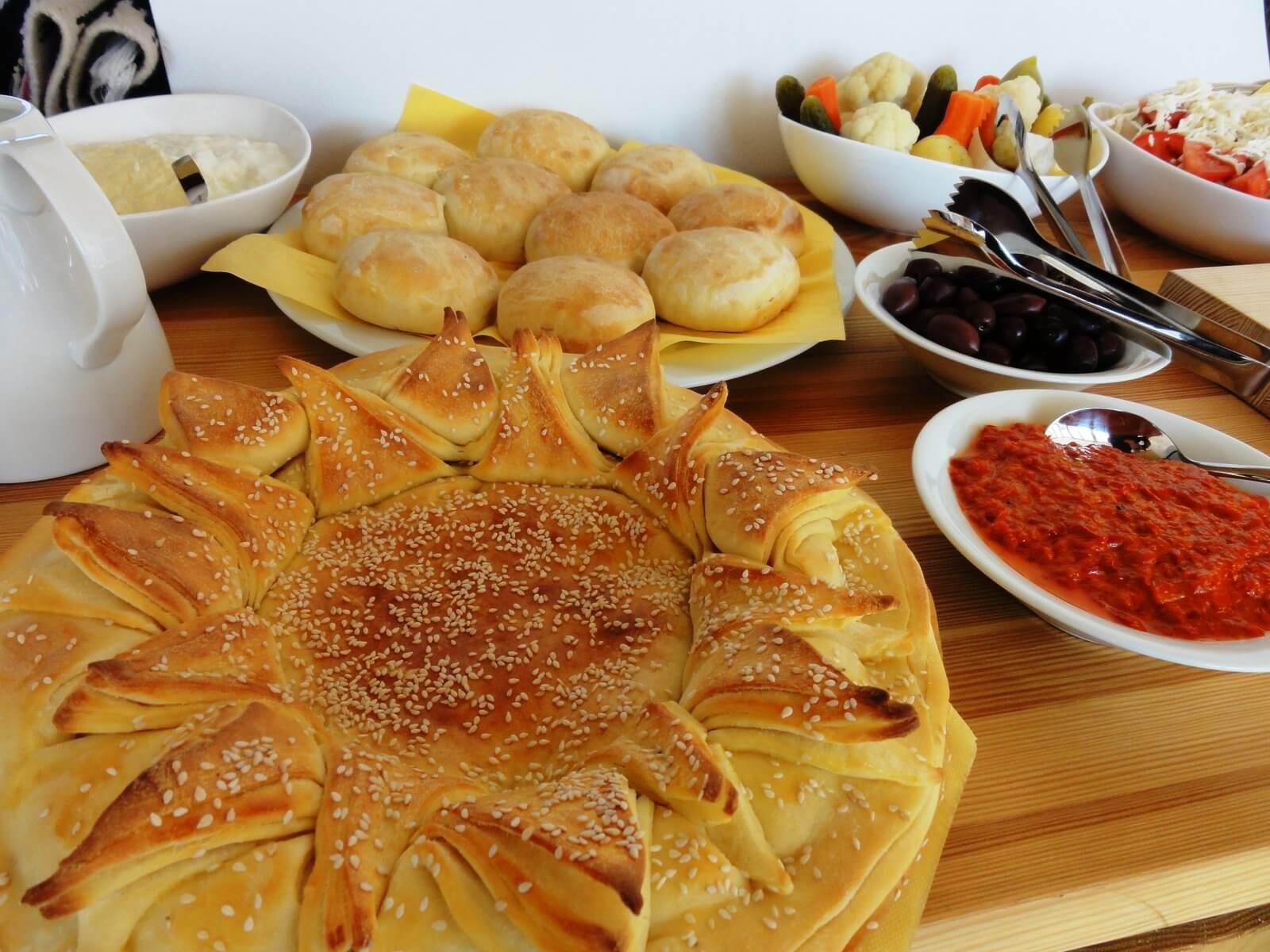 Homemade bread at Sunday brunch