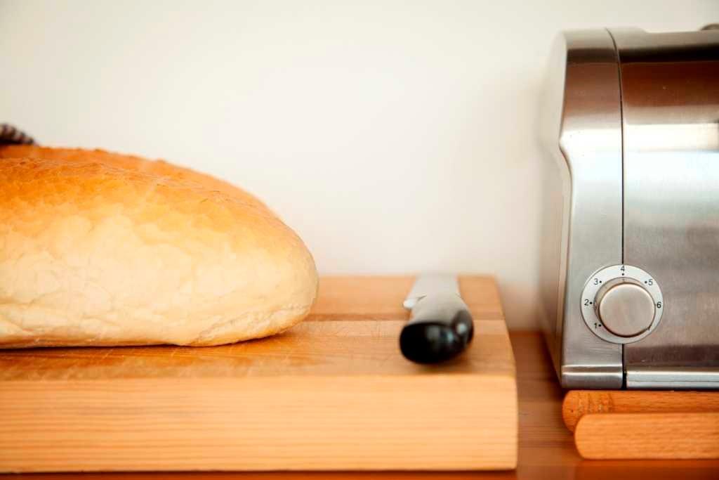 bread at the breakfast buffet