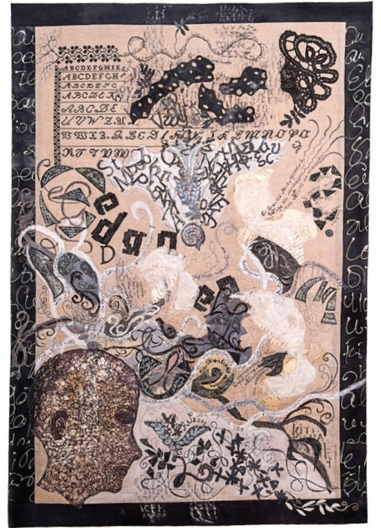 Gedankenmustertuch (2015)  |  60 x 90 cm