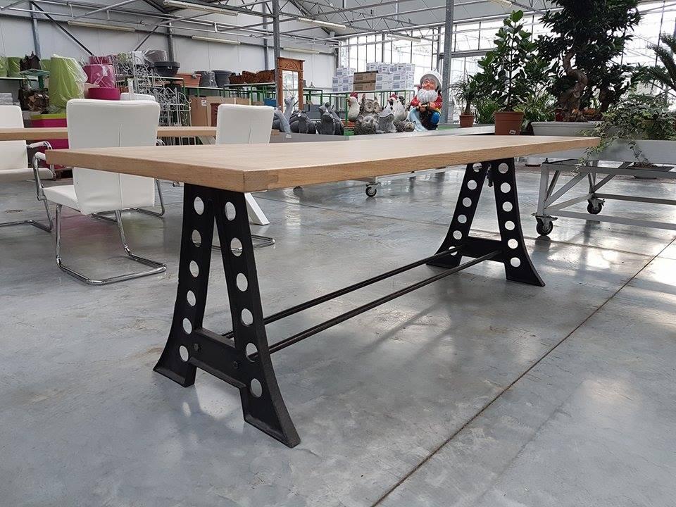Eiken tafels ameloot garden construct