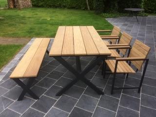 Tuinset combinatie bank en stoelen ameloot garden construct
