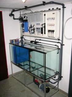 Bild: Aquarientechnik im Untergeschoss für ein  2.000l-Aquarium