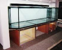 Bild: Im Bau befindliches Aquarium