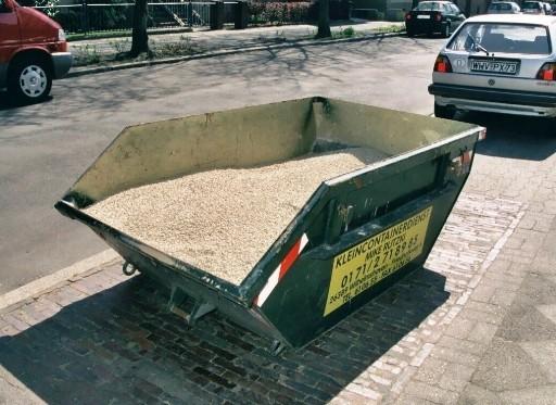 Anlieferung des Bodengrundes - mehr als üblich!