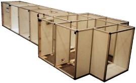 Bild: Aluminium-Kastenrahmenunterbau für eine 3.900l-Aquarienanlage.
