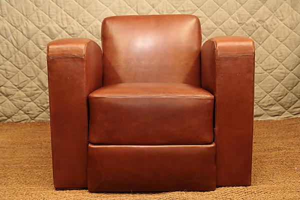 création fauteuil cuir club
