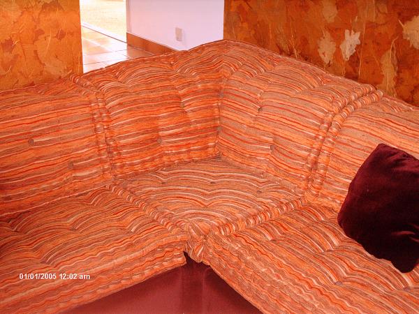 canapé façon matelas de laine sur mesure