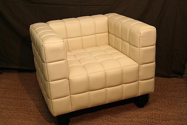 fauteuil Kubus cuir Hoffmann