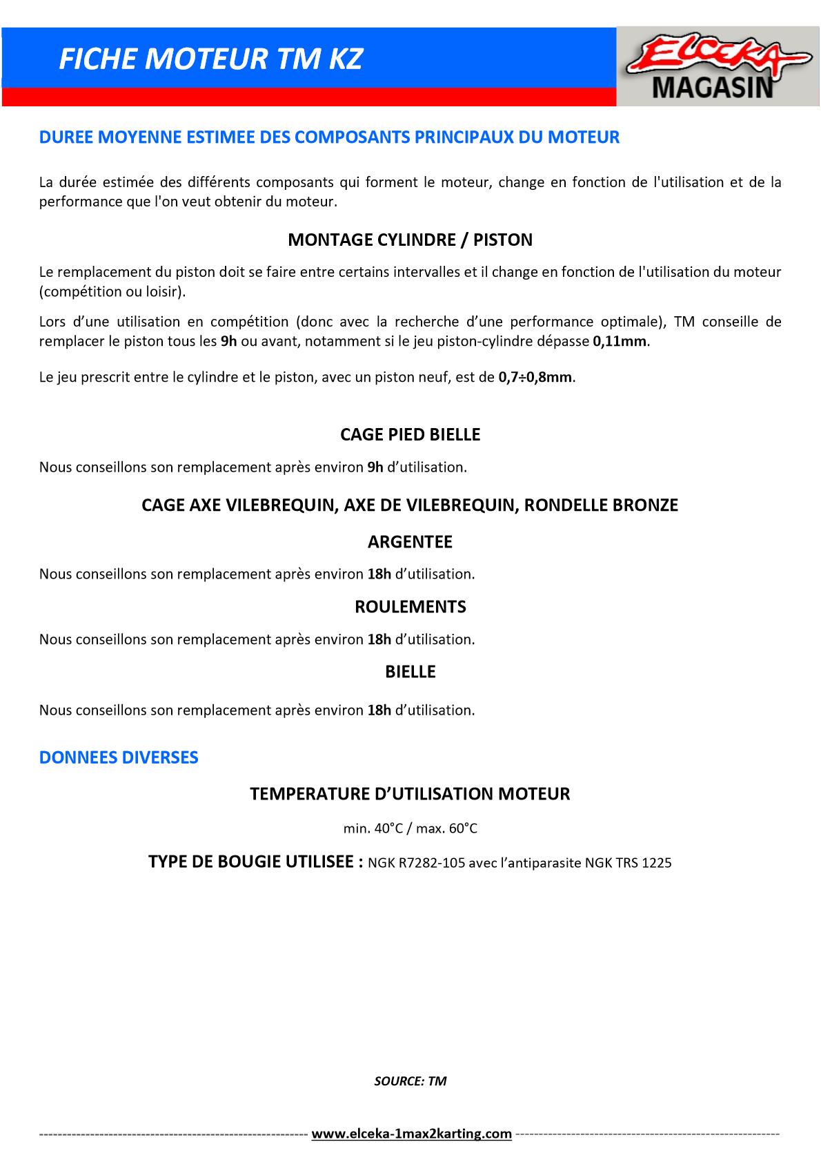 FICHE MOTEUR TM KZ PAGE 2 SUR 2