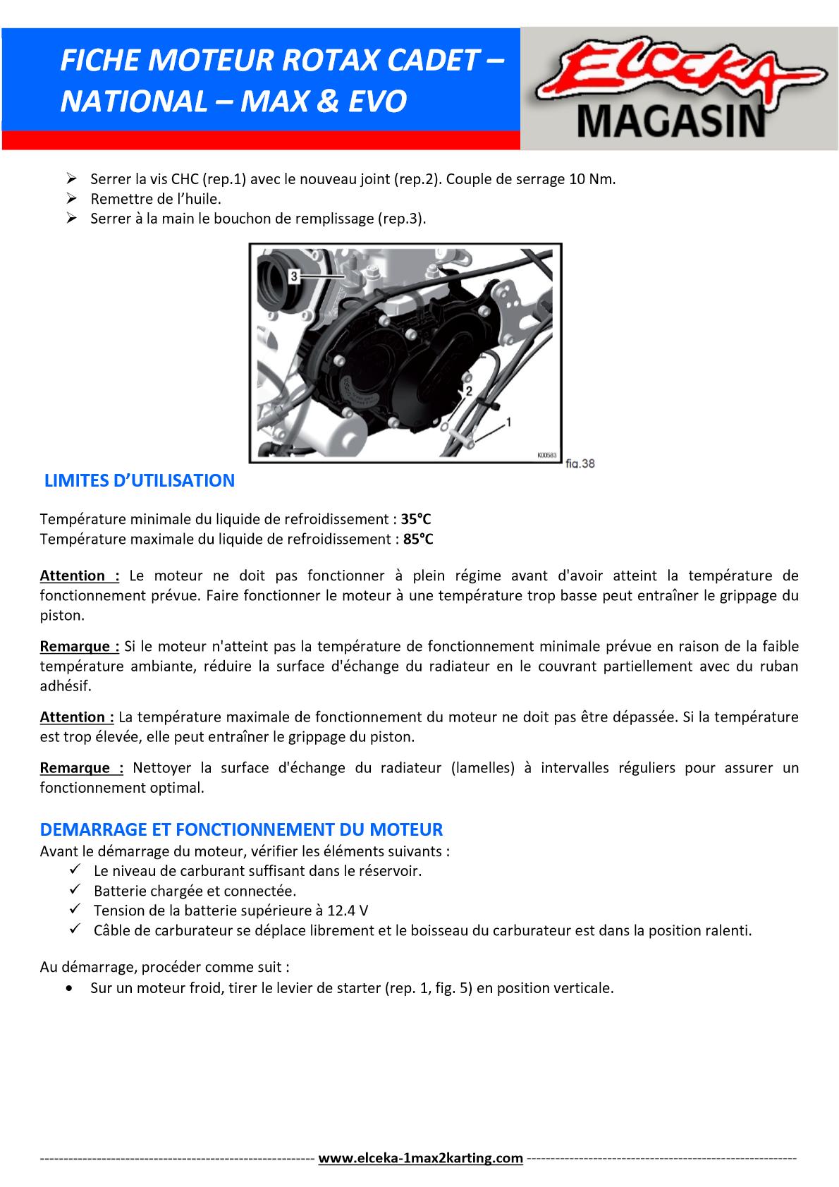 FICHE MOTEUR ROTAX PAGE 2 SUR 5