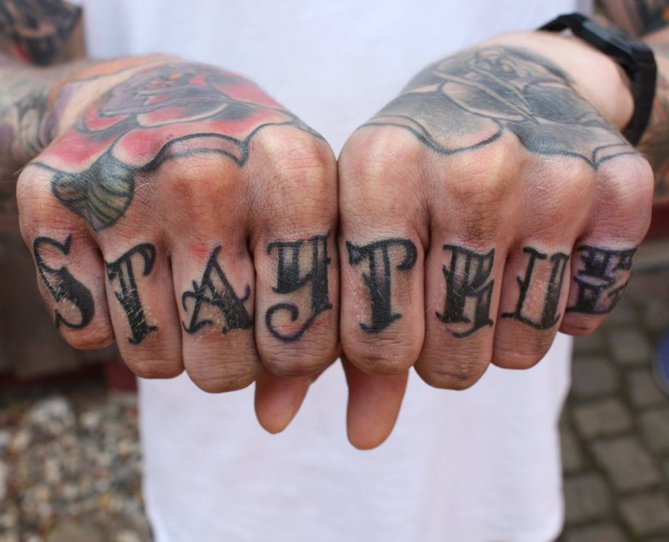 """Sta True"" tätowiert von Burns Seiken bei TNT in Marl   Tattoo done by Burns Seiken"