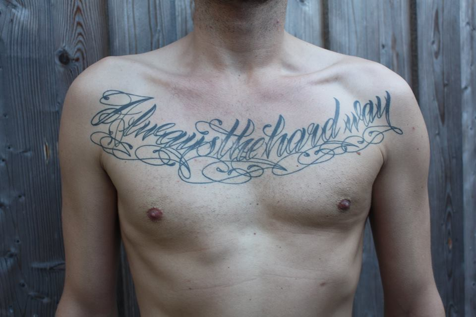 """Always the Hardway"" tätowiert von Burns Seiken bei TNT in Marl   Tattoo done by Burns Seiken"