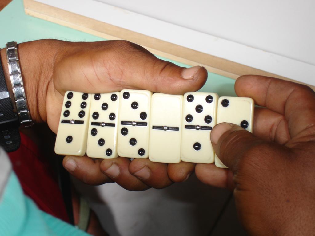Für die Erwachsenen gabs ein Domino-Turnier...