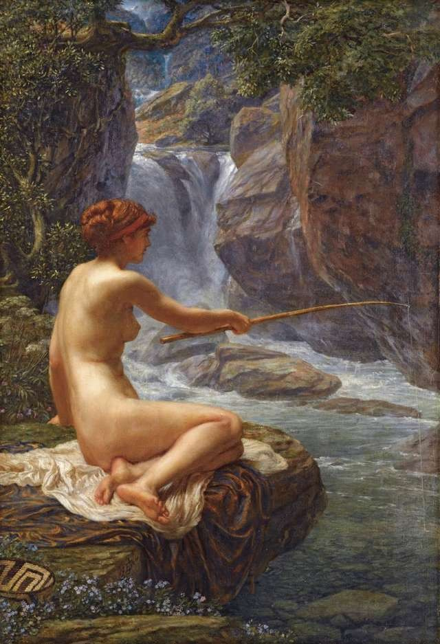 the-nymph-of-the-stream-edward-poynter