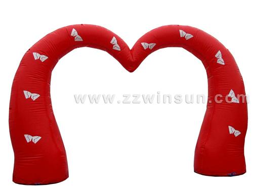 Herzbogen mit Schleifen! 400 x 260 cm
