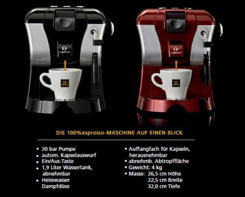 100 espresso 100 espresso kapseln. Black Bedroom Furniture Sets. Home Design Ideas
