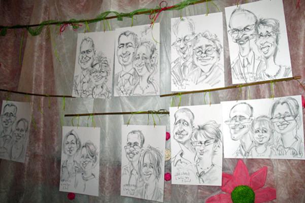 Caricatures des invités