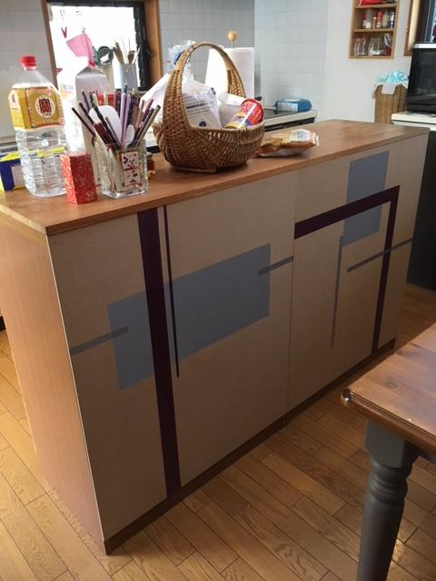 食器収納家具~こちらもリメイク