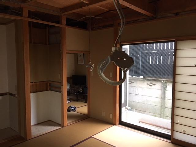 1F解体後 8畳和室