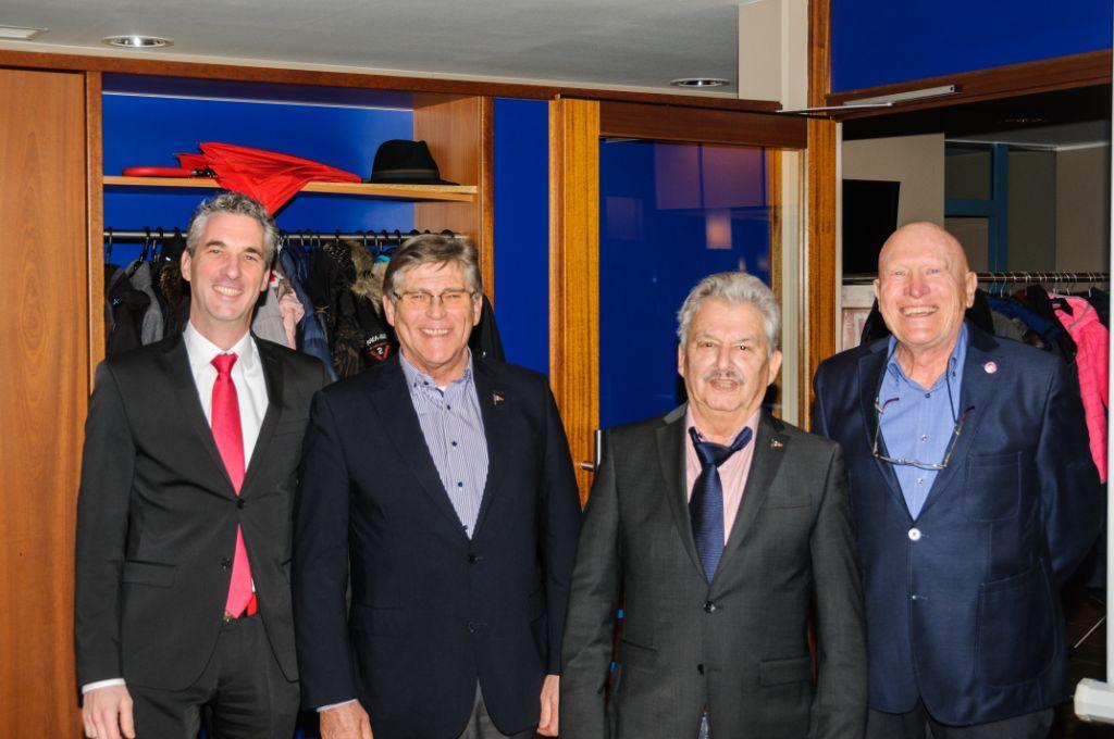 Ausscheidende Vorstandsmitglieder A. Duelli, E. Weinert, Hj. Lang, E. Rasch