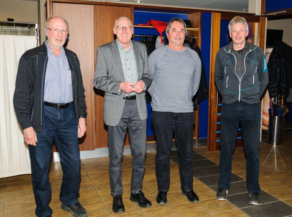 25 Jahre im Verein C. Reuss, F. Frick, H. Stingl