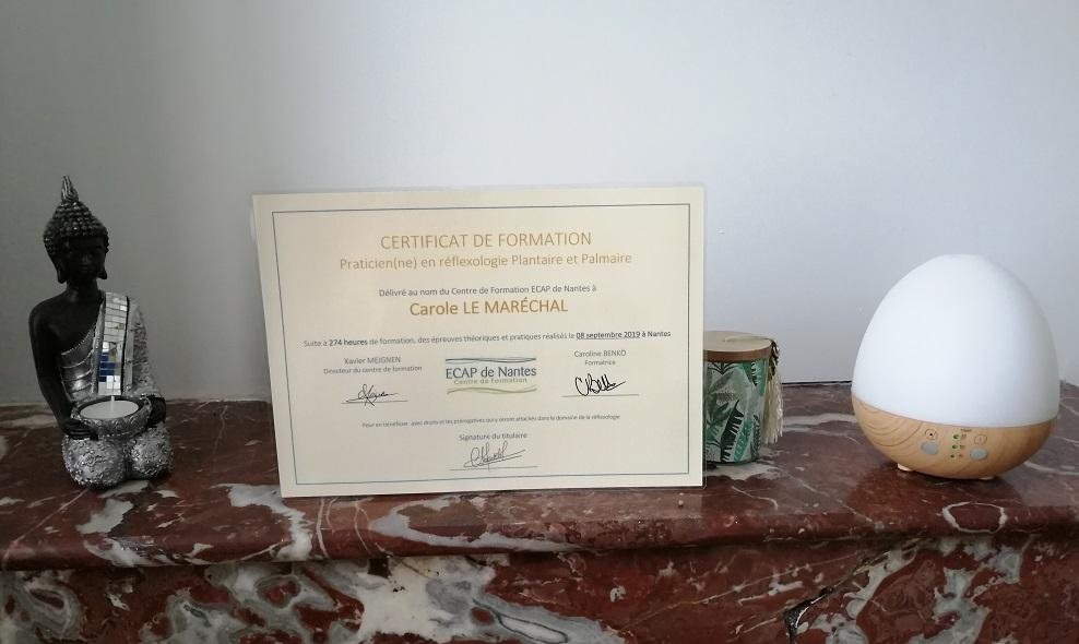 Praticienne en réflexologie plantaire certifiée Nantes