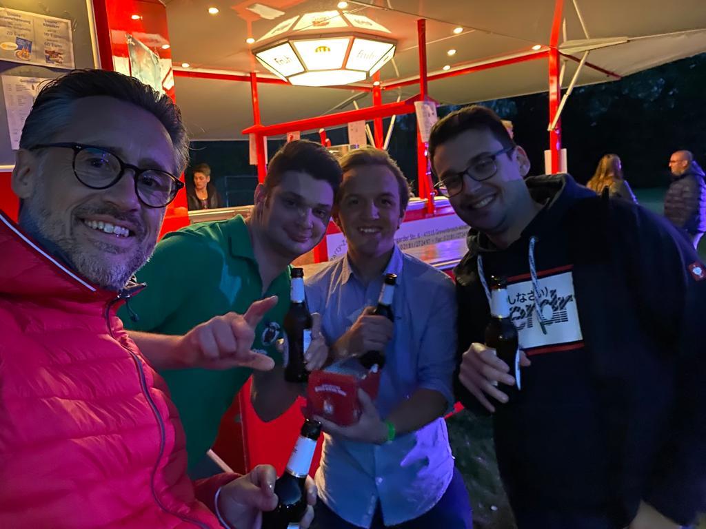 v.l.: Jörn Neßlinger, Daniel Wyrich, Steffen Roether, Maurice Pasold