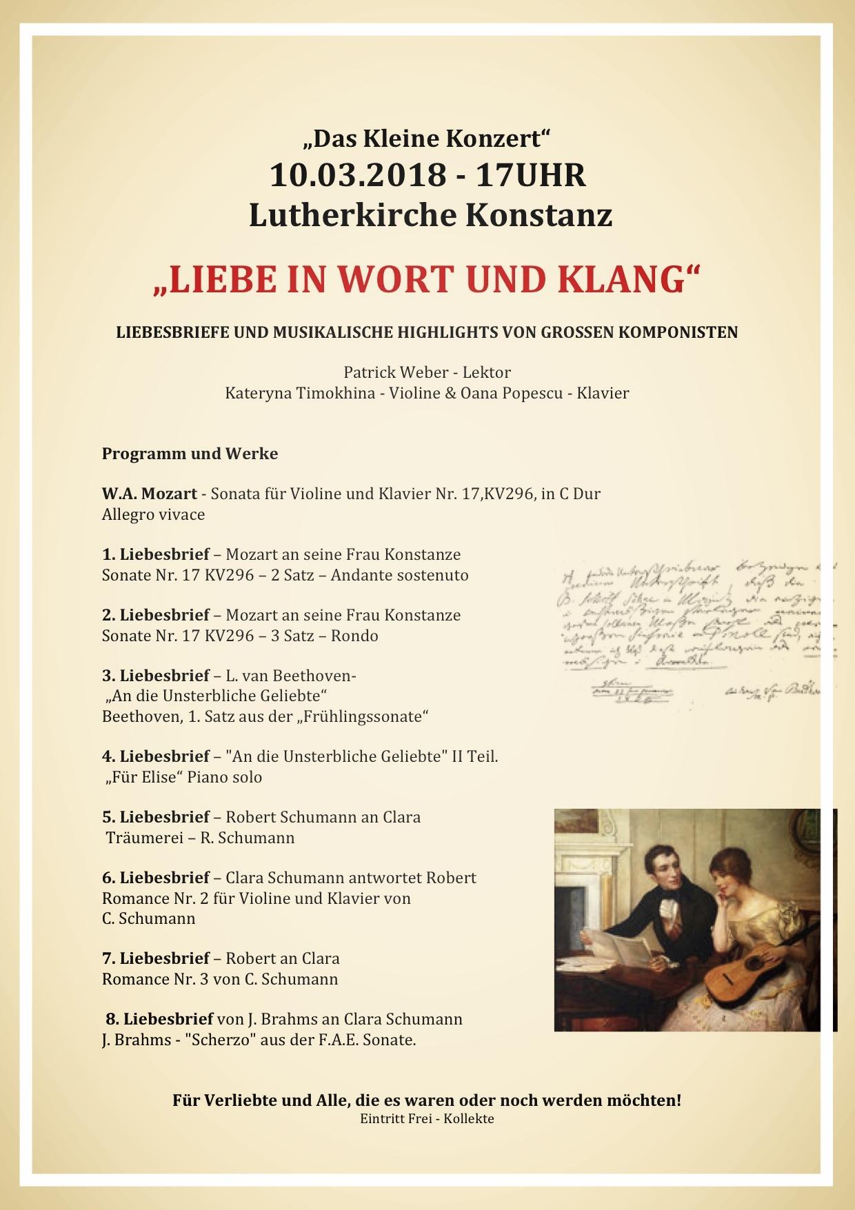 Das Kleine Konzert, Konstanz 10.3.2018 Lutherkirche