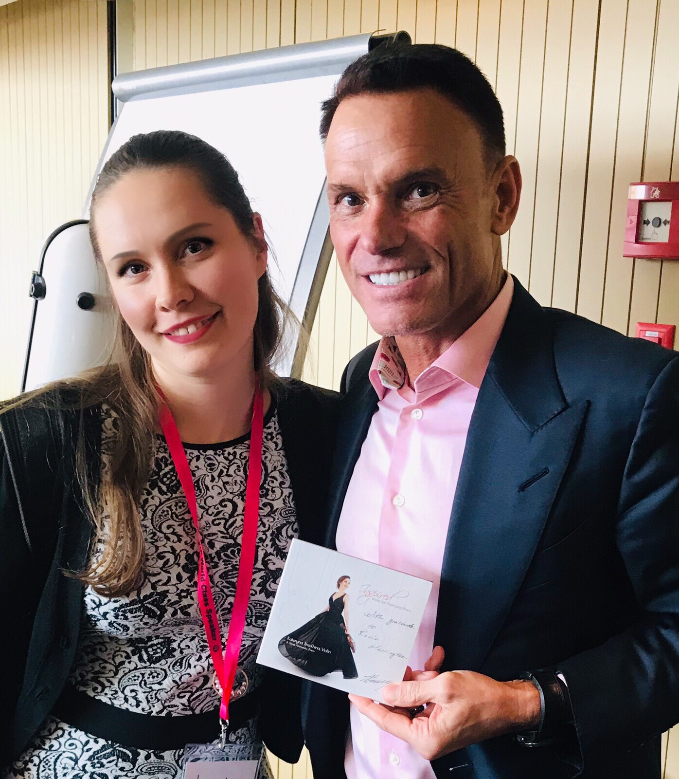 "Kevin Harrington from ""Shark Tank"" with my CD ""Inspired"""