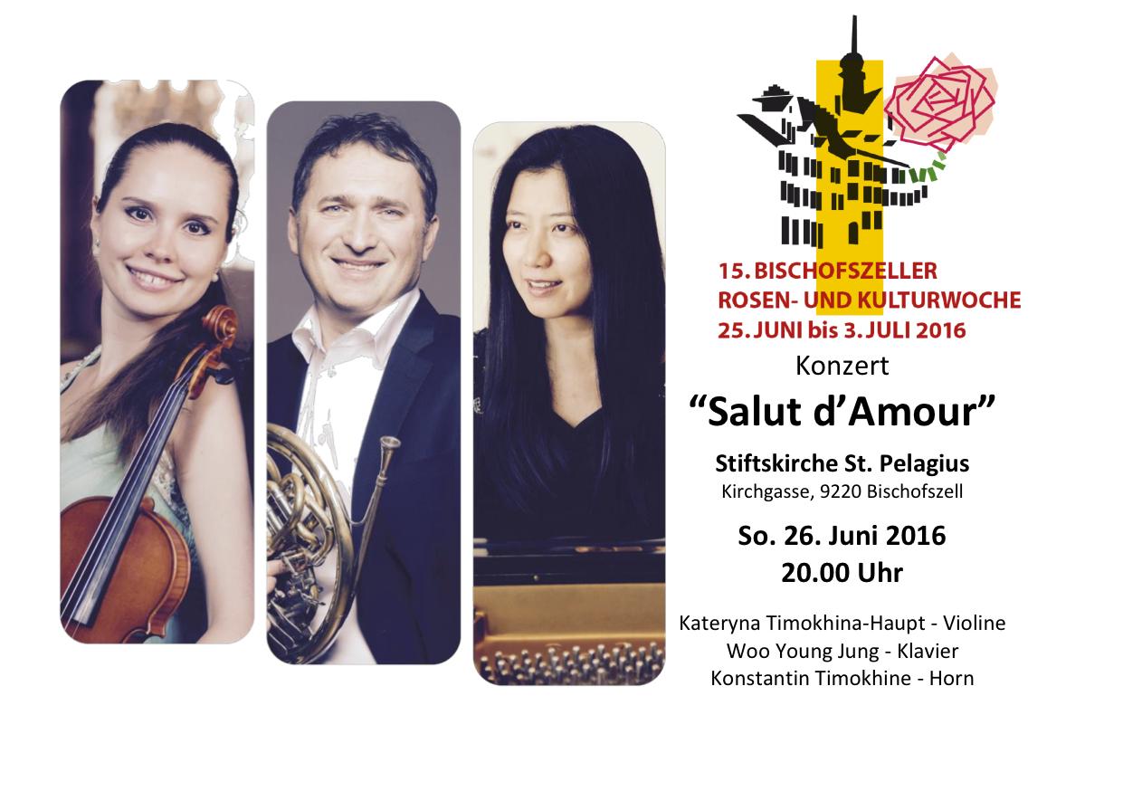 Bischofzeller Rosenwoche 2016, Konstantin Timokhine - Horn, Woo Yound Yoon - Piano.