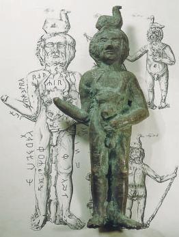 Der Gott Radegast (aus den Fälschungen der Prillwitzer Idole)