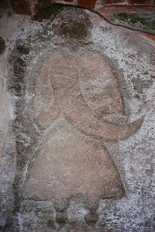 Kamjentny relief Swjatowita w Altenkirchenskej wosadnej cyrkwi. Žórło: Lebrac (Own work) [GFDL (http://www.gnu.org/copyleft/fdl.html) or CC BY-SA 3.0 (http://creativecommons.org/licenses/by-sa/3.0)], via Wikimedia Commons