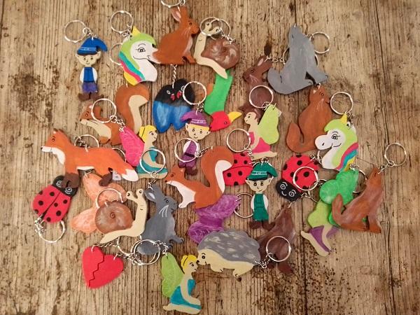 porte-clés en couleurs