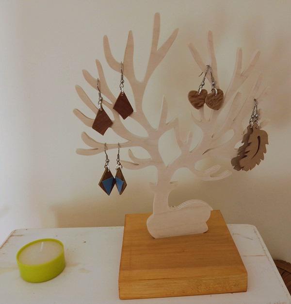 arbre à bijoux cervidé