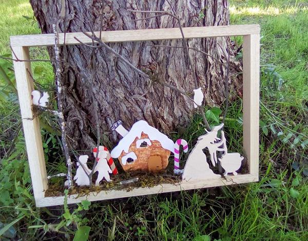 cadre décoratif: Hansel et Gretel
