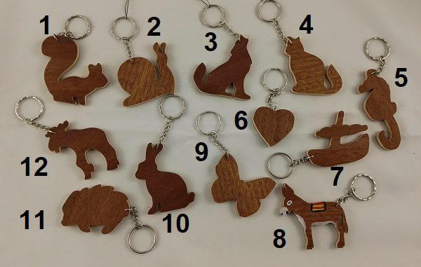 porte-clés en bois brut