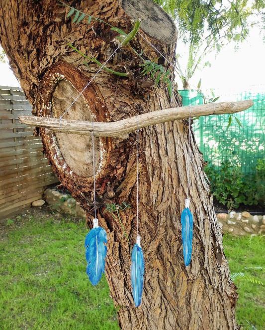 plumes en bois