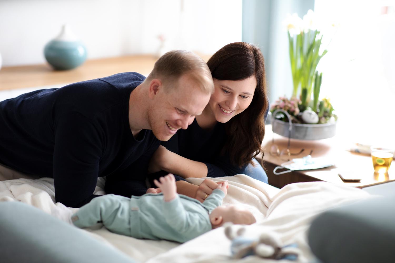 Schöne Momente der Babyfotografie