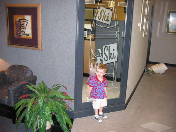 My son at the DC headquarters in Chattanooga, 2004