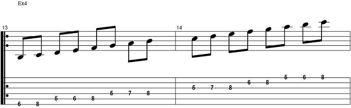 【初心者】ジャズギター入門:Bbメジャースケール5
