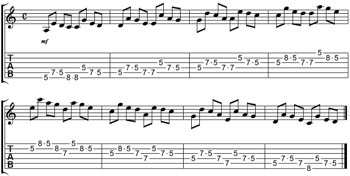 【初心者】ギターアドリブ講座 音型トレーニング2-2